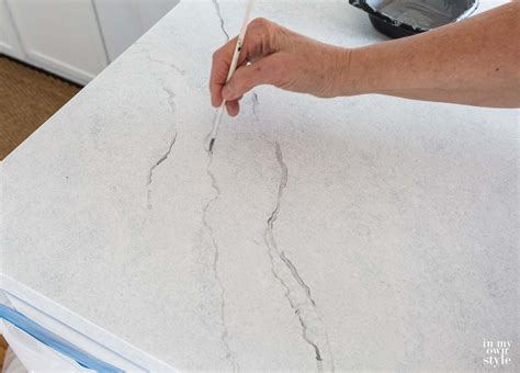 painting kitchen countertops to look like carrara marble in my own style