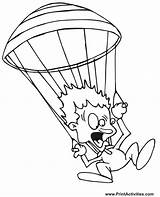 Parachute Coloring Pages Scared Paratrooper Airplane Parachutist Template Parachuter Terrified Air Coloringpages Popular Sketch Coloringhome sketch template