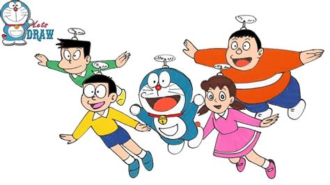 How To Draw Cartoon Characters Doraemon Step By Step