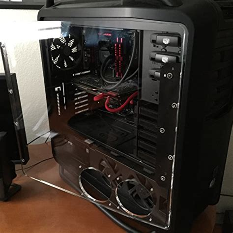 pc side panel fan galleon clear acrylic side panel for the cooler master