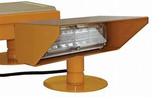 Helipad solar flood light systems interface