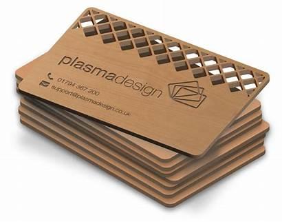 Cards Business Card Cut Plastic Innovative Wood