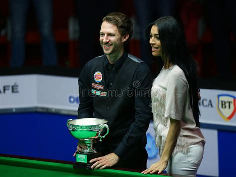 judd trump snooker girlfriend ronnie sullivan trophy masters played poses european against final editorial october