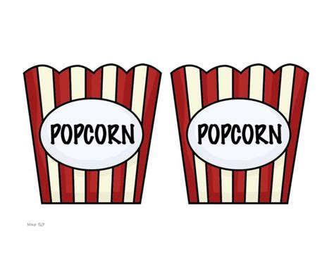 Popcorn Container Template by The Speech Tangled Tuseday