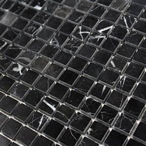 Mosaique Piscine Pas Cher : mosa que marbre marquina noir carrelage mosaique pas cher ~ Premium-room.com Idées de Décoration