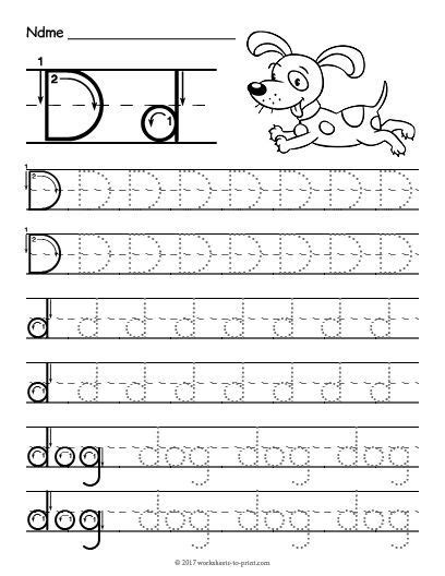 free printable tracing letter d worksheet kindergarten tracing letters letter d worksheet