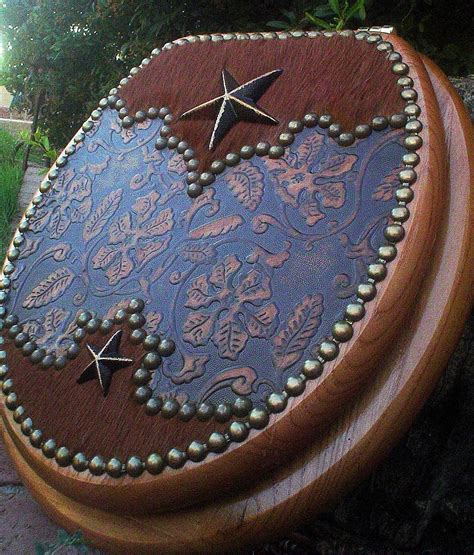 double star  scalloped floral cowhide toilet seat