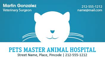 custom veterinary business card magnets  mil