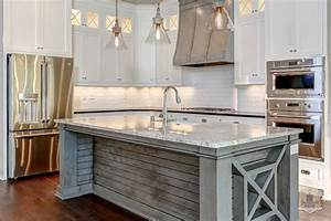 plank kitchen island transitional kitchen stonecroft With kitchen colors with white cabinets with you are my sunshine reclaimed wood wall art