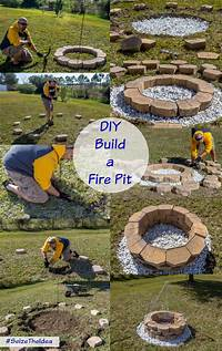 build a fire pit DIY Build a Backyard Fire Pit