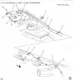 similiar 2000 chevy blazer fuel line diagram keywords 1998 s 10 pickup evap service port hose loose s10 evap diagram