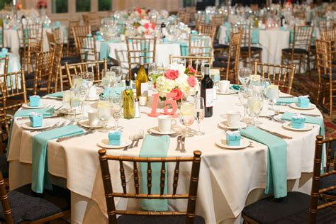 Ashley & Robert?s {Coral & Tiffany Blue} Summer Wedding   Wedding Colors