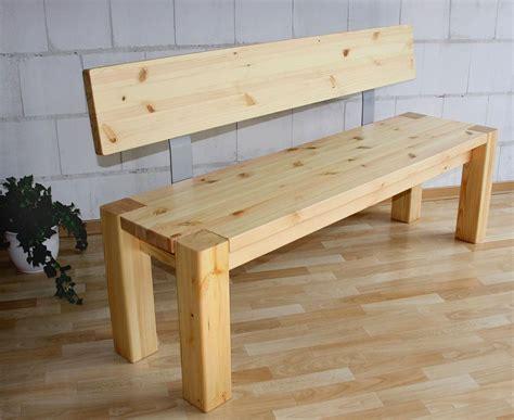 küchenbank mit lehne massivholz sitzbank 160cm mit r 252 ckenlehne holzbank lehne