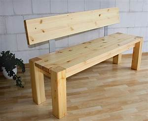 Sitzbank Holz Mit Lehne : massivholz sitzbank 160cm mit r ckenlehne holzbank lehne kiefer natur ~ Buech-reservation.com Haus und Dekorationen