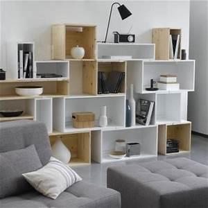 Bibliothèque Basse Bois : meubler son salon petit prix avec le diy blog ma maison mon jardin ~ Teatrodelosmanantiales.com Idées de Décoration