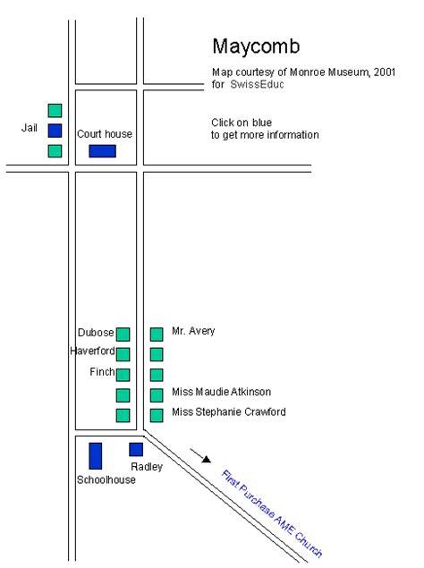 Alabama Mockingbird Kill Map Maycomb