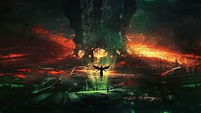 Fantasy Angel Demon Artwork Fantastic Wallpapers Desktop