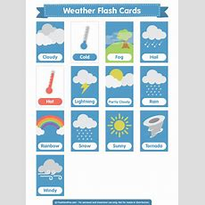 Printable Weather Flash Cards