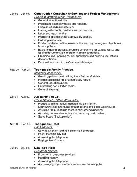 Project Expeditor Resume by Resume Of Allison Hughes