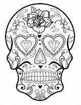 Coloring Sugar Pages Skull Printable Mandala Pdf Skulls Getcolorings Onlin sketch template