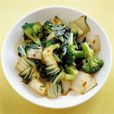 Sauteed Bok Choy and Broccoli Recipe   Martha Stewart