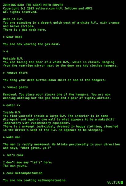 Text Computer Based Bad Breaking Vulture Zork