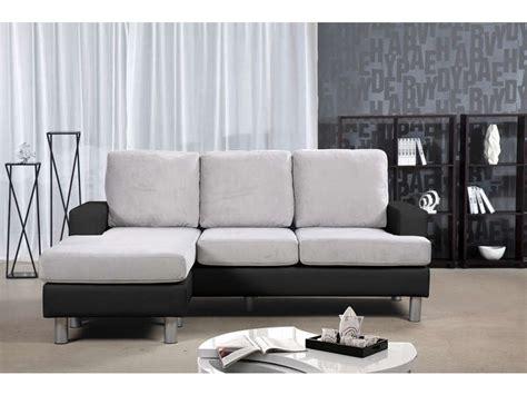 canape angle noir conforama canapé d 39 angle réversible 3 places ronane coloris noir