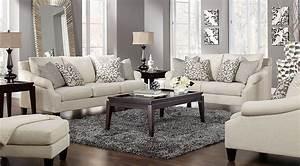 Beige, White, U0026, Gray, Living, Room, Furniture, U0026, Decorating, Ideas