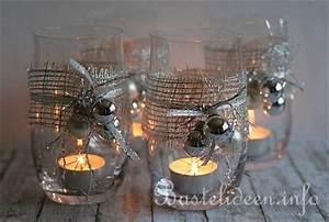 Gläser Verzieren Basteln : weihnachtsbasteln schnelle weihnachtliche teelichtgl ser ~ Lizthompson.info Haus und Dekorationen