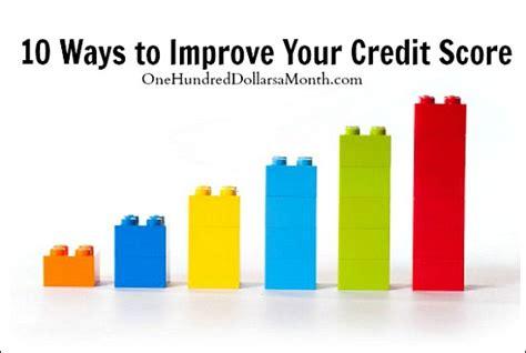 ways  improve  credit score   dollars
