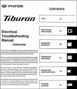 2006 Hyundai Tiburon Electrical Troubleshooting Manual Original