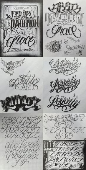 big meas lettering guide www pixshark images item of the week big meas style combo tattoonow 10324