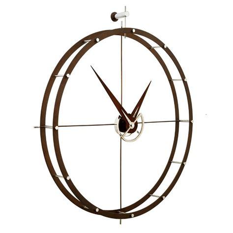 horloge murale personnalisee photo doble o horloge design nomon 216 70 acier et bois