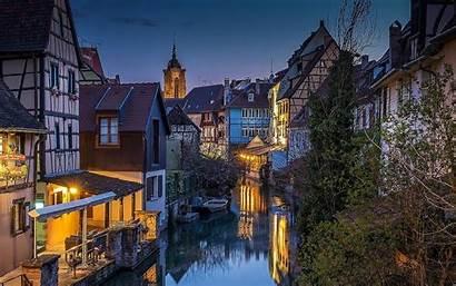 France Landscape Architecture Nature Canal Sunset Lights