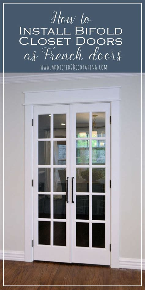 pantry doors finished bifold closet doors installed