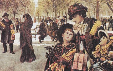 american christmas 1800 s new york city christmas shoppers