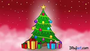 Cómo dibujar un Árbol de Navidad paso a paso dibujart