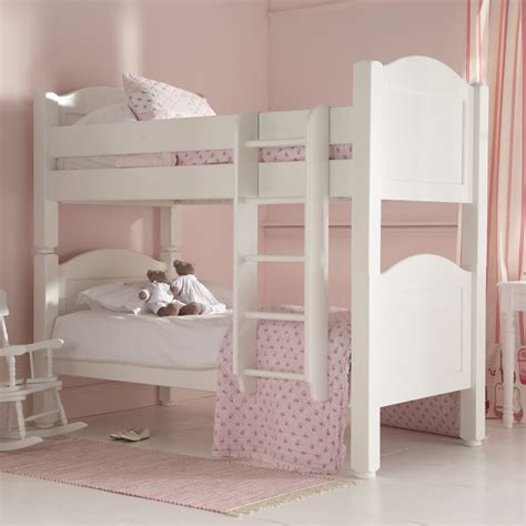 Confidence White Wood Bunk Beds For Kids Amazing Perfect
