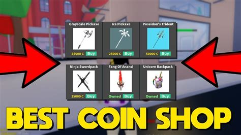 coin shop update  strucid insane pickaxes youtube