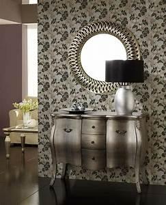 Espejo decorativo con marco de poliresina calado en color pan de plata 90cm x 90cm x 7cm http