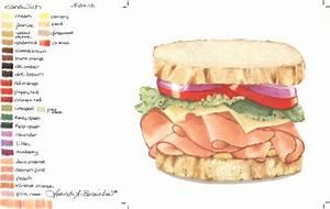 Club Sandwich Drawing