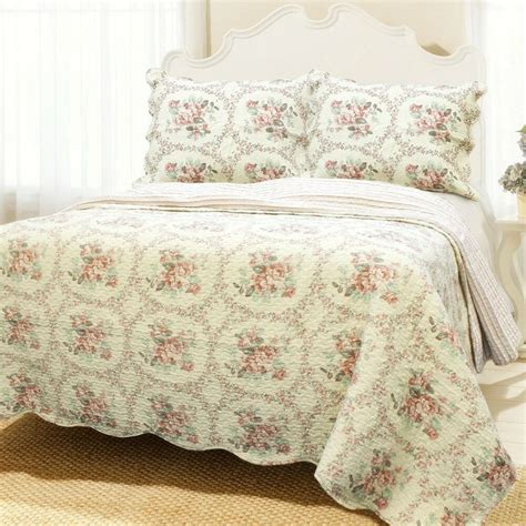 Cotton Coverlets by Reminiscent Mood 100 Cotton Quilt Set Bedspread