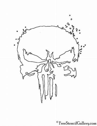 Punisher Skull Stencil Symbol Template Coloring Freestencilgallery