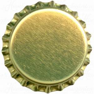 Humlegårdens Ekolager - Gold beer bottle caps, 10000 pcs
