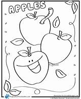 Apple Coloring Apples Preschool Pages Preschoolers Printable Worksheets Cute Kindergarten Template Activities Az Sheets Printables Alphabet Cut Toddler Grateful Dead sketch template