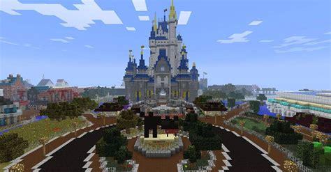minecraft fans recreate disney worlds magic kingdom