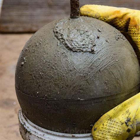 betonkugel fuer garten selber machen betonkugeln gartendeko selbstgemacht und betonkugel