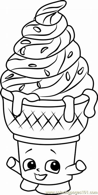 Coloring Ice Cream Shopkins Shopkin Dream Unicorn