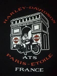 Harley Davidson Fr : harley davidson motorcycle t shirt paris france vtg black biker origi ~ Medecine-chirurgie-esthetiques.com Avis de Voitures