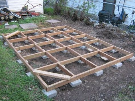 concrete blocks  shed floor frame google search